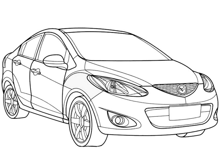 Mazda 3 zum ausmalen