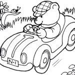 ausmalbilder autos. Teddy