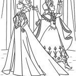 ausmalbilder eiskönigin: Anna und Elsa