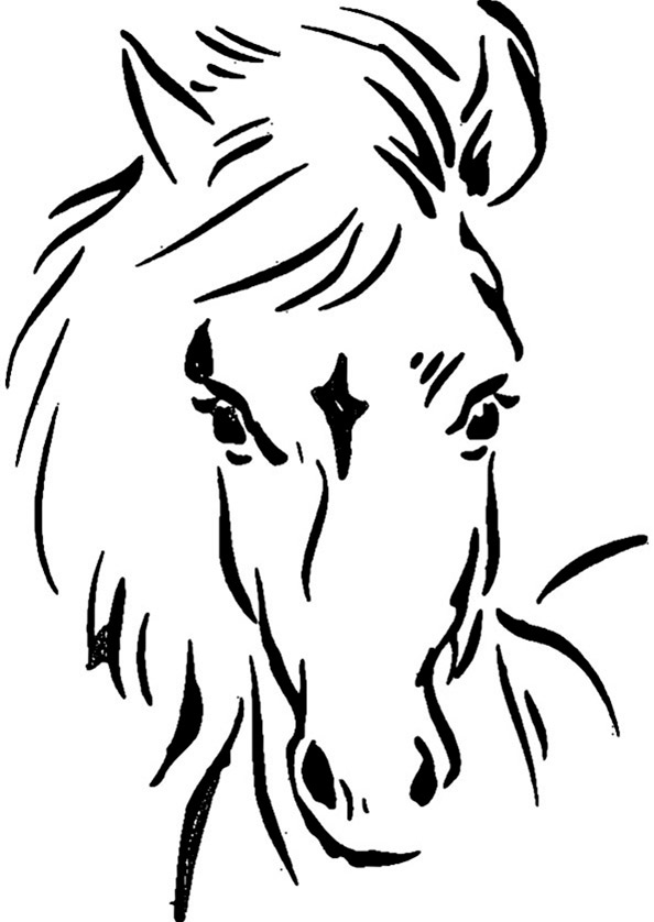 Ausmalbilder Pferde 4