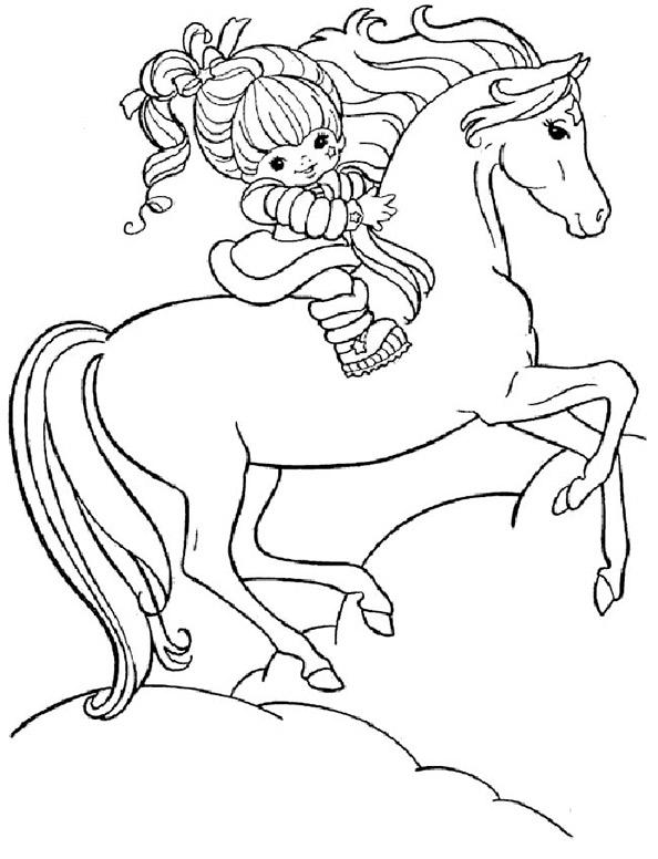 Ausmalbilder Pferde 5