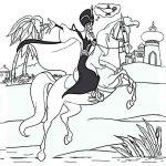 Ausmalbilder Pferde 9