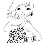Ausmalbilder Topmodel Jenny