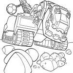Ausmalbilder Dinotrux. T-Rux. Bild 3