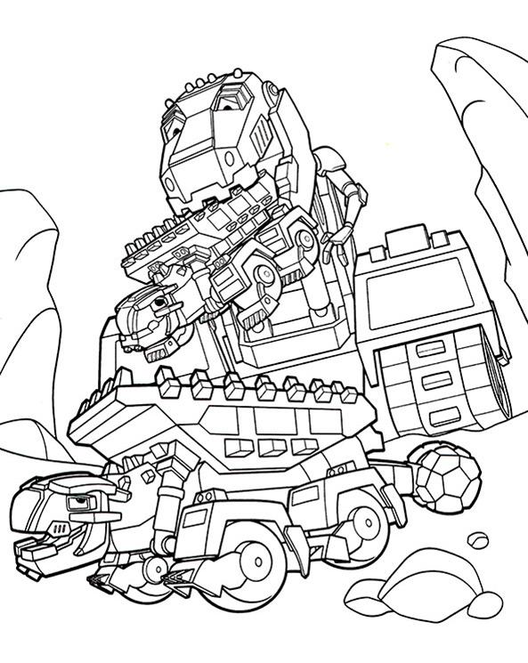 Ausmalbilder Dinotrux, Bild 7