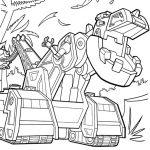 Ausmalbilder Dinotrux. Bild 6 T-Rux