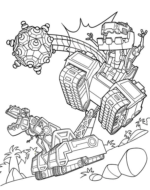 Ausmalbilder Dinotrux, Bild 13