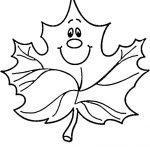 Ausmalbilder Blätter. Bild 1