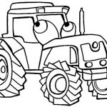 Ausmalbilder Traktor. Bild 1