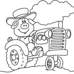 Ausmalbilder Traktor. Bild 2