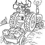 Ausmalbilder Traktor. Bild 3