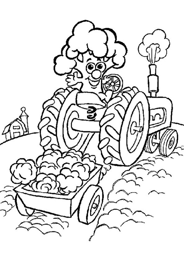 Traktor 3 Ausmalbilder Kostenlos