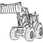 Ausmalbilder Traktor. Bild 5