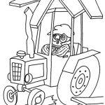Ausmalbilder Traktor. Bild 6