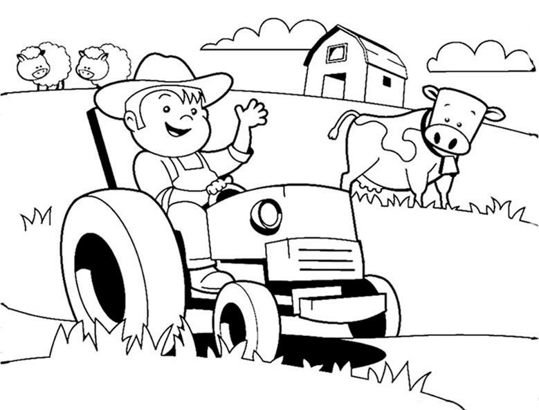 Ausmalbilder Traktor. Bild 7