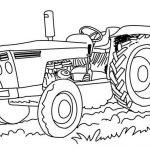 Ausmalbilder Traktor. Bild 8