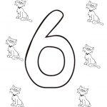 Ausmalbilder Zahl Sechs