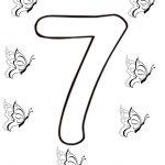Ausmalbilder Zahl Sieben