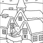 Ausmalbilder Weihnachten. Bild 10